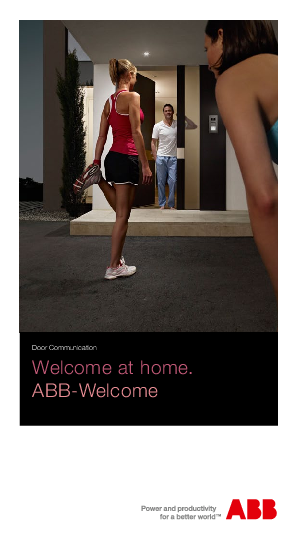 ABB-Welcome product flyer